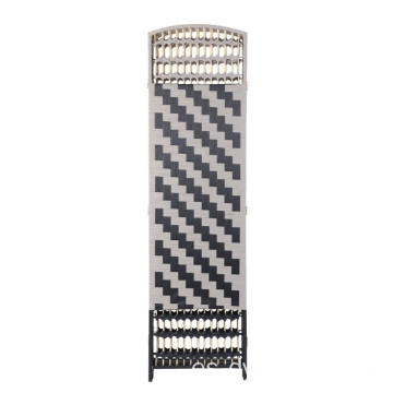 6 ft Tall Diamond Weave Fiber Chevron 6 Panel paper rope Room Divider