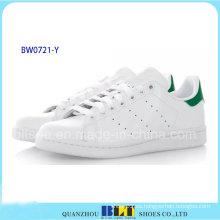 Zapatos casuales de la marca de la venta caliente con cuero blanco Stan Smith