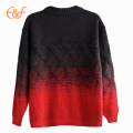 Hommes Gradient Color Cable Heavy Gauge Winter Sweater