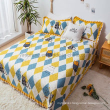 New Product Hotel Bed Spread Twin Size Soft for Spring and Summer