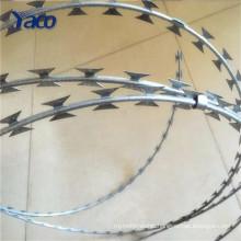 Electro galvanized wire for BTO-22 razor barbed wire