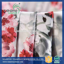New product printed 100% polyester stain fabric for Dress