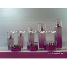 Lotus Leaf Shape Acrylic Cosmetics BB Cream Jars 15g 30g 50g