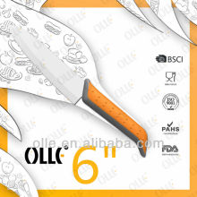 "6"" Bi-color Plastic Beak Handle Cutlery Knife"