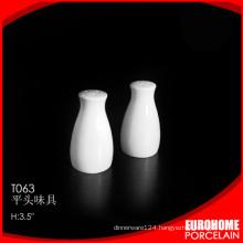 new arrivals nice design white fine ceramic salt pepper shaker