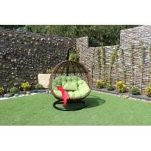 Chaise pivotante à rotin en poly rotin moderne / hamac pour jardin extérieur