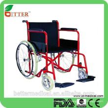 Cadeira de rodas em aço revestido em pó básico