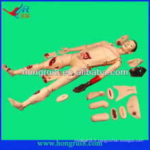 ISO Advanced medical nursing trauma manikin, advanced trauma accessories