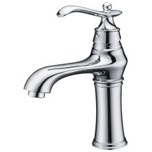 Chrome single hole and handle vintage basin faucet