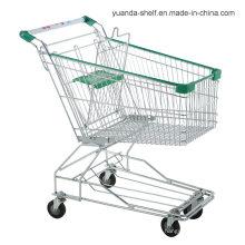Carrito de compras de metal de mano de malla de alambre de comestibles