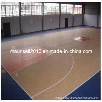 PVC-Bodenbelag für Basketballplatz
