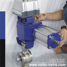 Flanged or Wafer V Bore or V Type Ball Valve for Flow Control