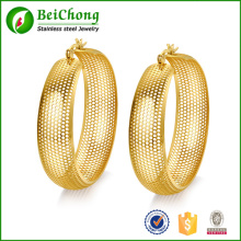 Fashion Accessory Cheap Hollow Big Gold Hoop Earring