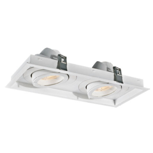 Downlight rectangulaire blanc 30W * 2 LED