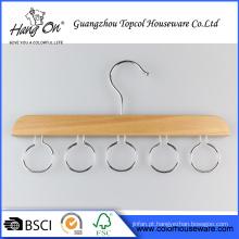 cabide de madeira para cinto/gravata/lenço