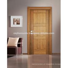 Natural American Walnut Veneer Porta interior com design novo Joint gab