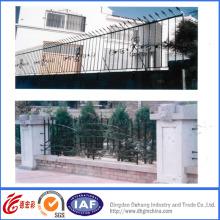 Cerca de segurança de jardim de ferro forjado de alta qualidade