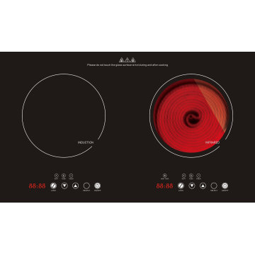 2017 Built-in Sensor Touch Double Burners Induction and Infrared Cooker Model Sm-Dic09-2