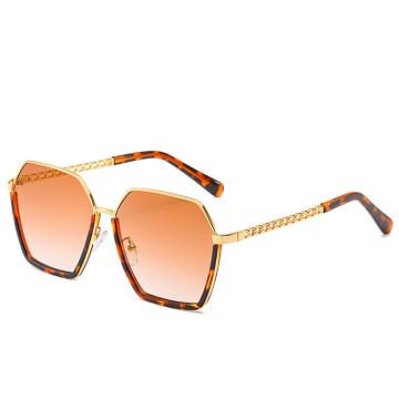New Women Eyewear Brand Sunglasses  Gradient Mirror Square Female Oversized Half  Frame Designer