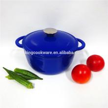 SGS/FDA certificate bule cast iron soup pot/cookware/casserole for kitchenware