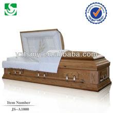 caixão de adulto madeira atacado superior estilo americano