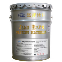 JIANBANG Satin Alkyd Paint Fast Air Drying Durable Protection Silver for Steel Structure Pipes Liquid Coating Spray Brush ≥ 0.2