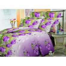 Tecido impresso em poliéster Zhuoyi para folha de cama