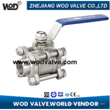 3PC Butt Weld Sanitary Ball Valve