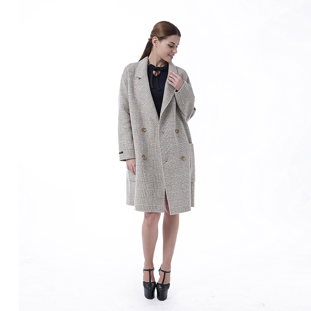 Cashmere overcoat Beige double-breasted