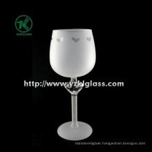 Single Wall Frosting Wine Glass (DIA 7*21.5)