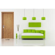 Portes de salle de bains d'usine, prix de portes en PVC HDF (SC-P004)