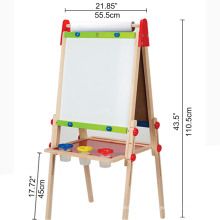 Hape High quality wooden 43.6x30x60cm drawing board easel