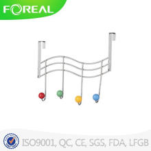 Hds Trading Over Door 4 Hooks Flat Wire Chrome Finish