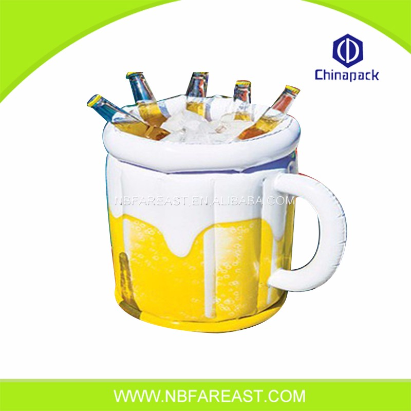 Promotional inflatable multi-purpose ice bucket