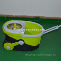 Spin Wring Kitchen Mop 1000rpm Telescoping Mop with Microfiber Cloth