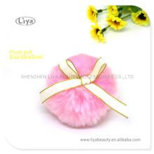 Rosa Make-up Blätterteig kosmetische Plüsch Blätterteig Plüsch Puderquaste mit Band