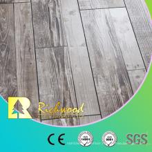 Teak Timber 12.3mm E0 HDF AC4 Wooden Laminate Oak V-Grooved Laminated Flooring