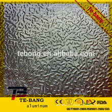 Orange peel embossed aluminum sheet for roofing