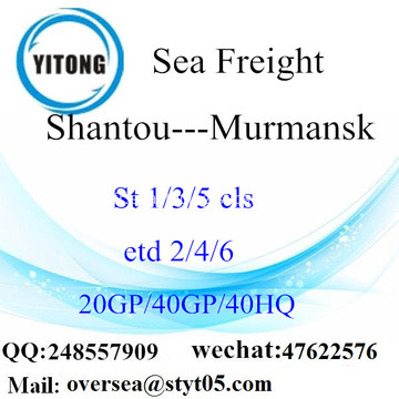 Fret maritime de Port de Shantou expédition à Mourmansk