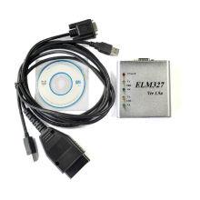 Ferramenta de diagnóstico OBDII Elm327 USB Scanner caixa metálica v 1.5
