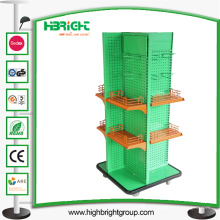 Convenience Store Vierseitiges Metall Display Regal