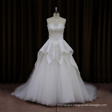 Classic Satin Beading Wedding Dress