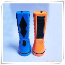 Durable recargable de energía solar y linterna de carga para la promoción