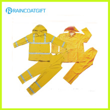Светоотражающая 2шт ПВХ rainsuit полиэфира мужская (РВК-112)