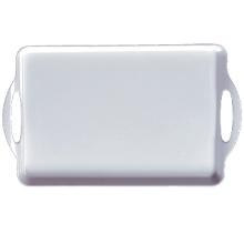100% Melaine-Geschirr-Tablett mit Ohren erstklassiges Geschirr (WT9019)