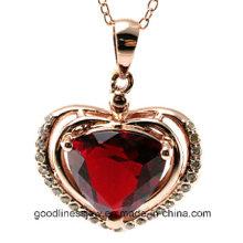 Buena calidad y joyería pendiente de plata de la manera, colgante P4991 del corazón del amor