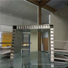 Paneles de panal de aluminio doblado de dos caras Paneles de soporte de exposición