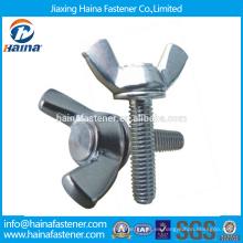 En existencia Proveedor chino Mejor precio DIN316 acero inoxidable ala perno con tuerca