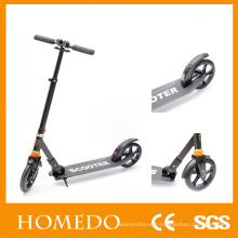 Adult Kick Push Scooter Hand brake Folds Down Handle scooters
