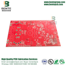 Red Ink 2 Layers PCB FR4 Tg135 Standard PCB HASL lead free